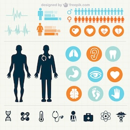 Medical statistics infographics