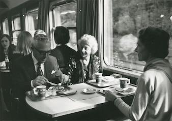 Meeting around train table
