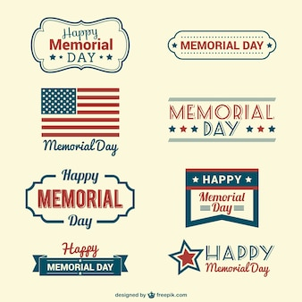 Memorial Day badges