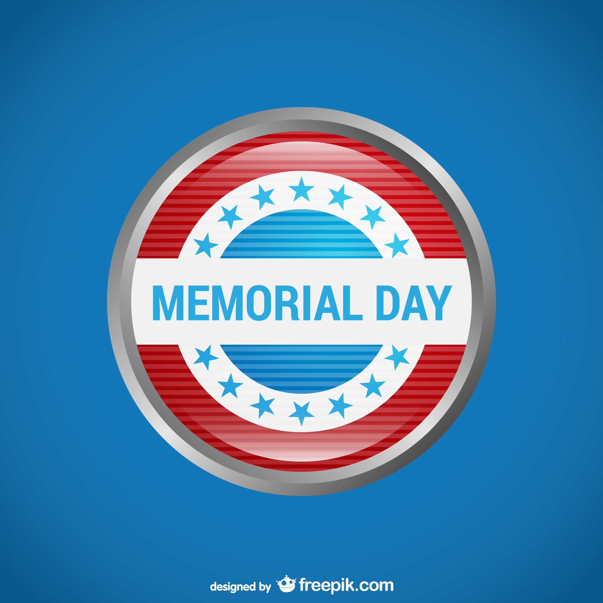 Memorial Day with blue background design