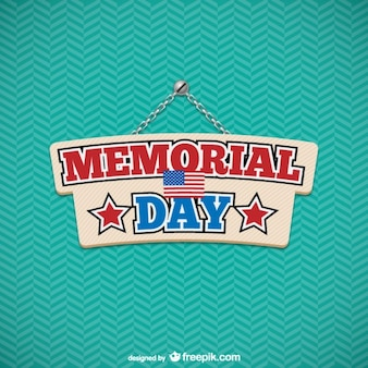 Memorial Day with green pattern background