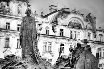 Memorial of Jan Hus in Prague.