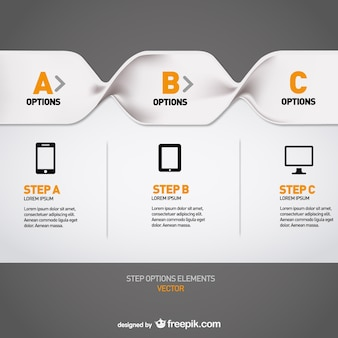 Menu template free infography