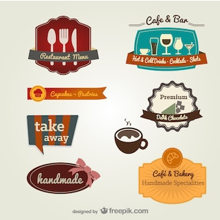 menu the restaurant label template    vector material