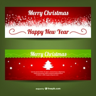 Merry Christmas banner templates