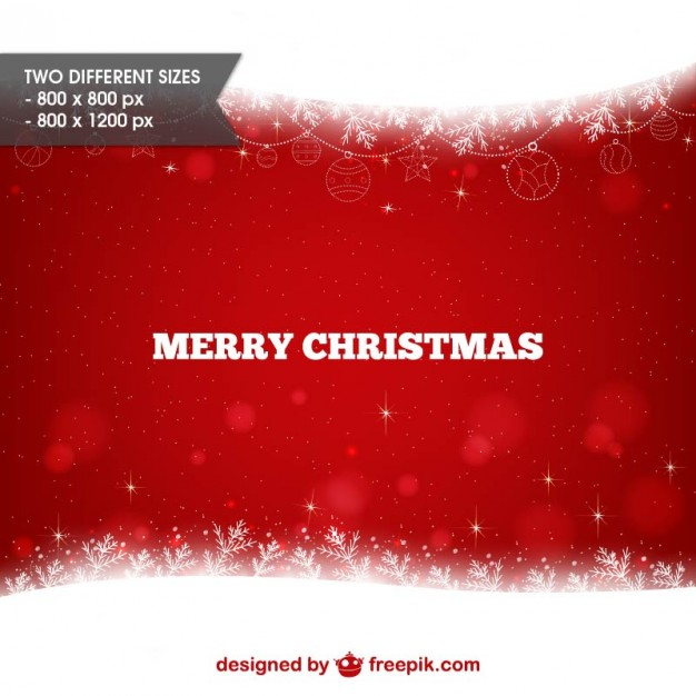 Merry Christmas red and white background