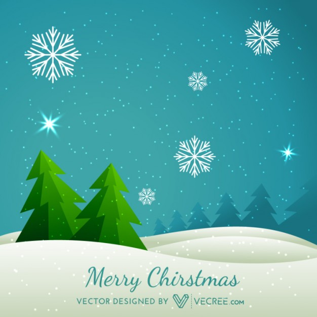 Merry Christmas with seasonal winter background