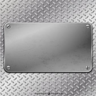 Metal plate vector background