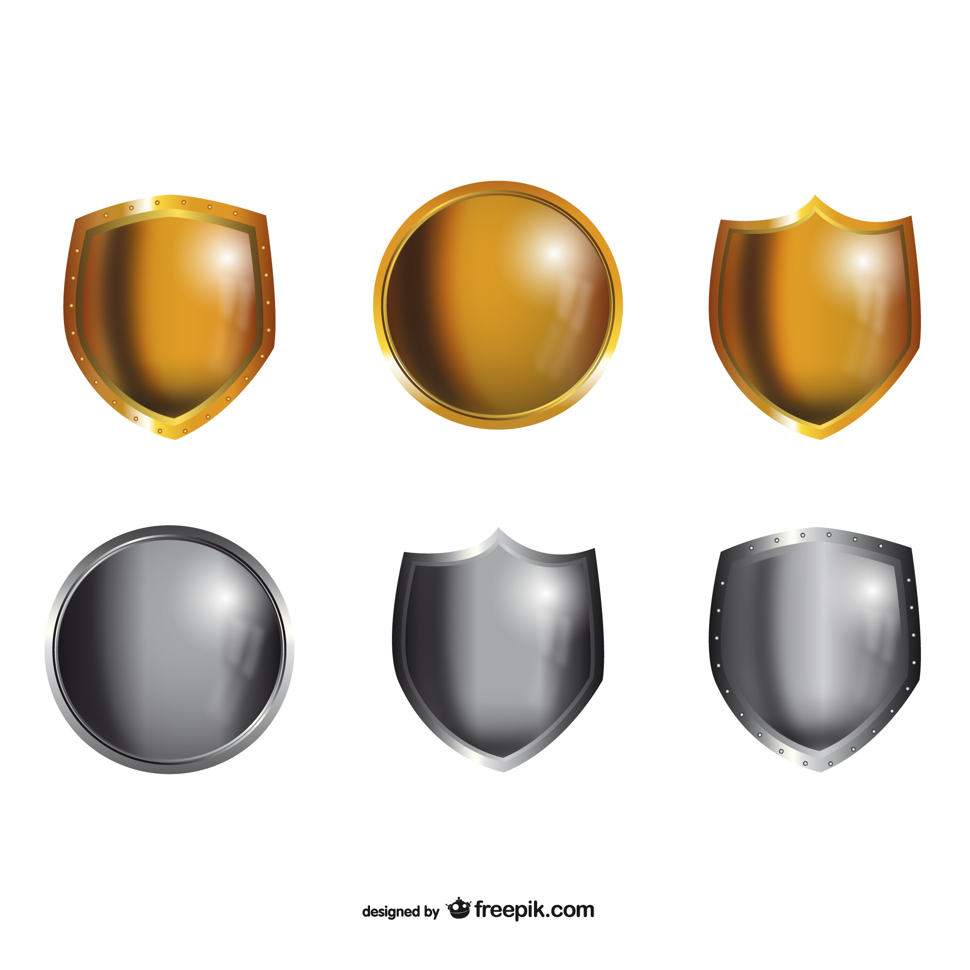 Metal shields pack