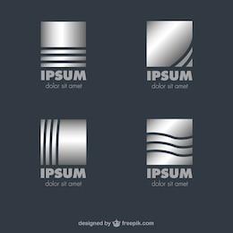 Metallic vector logos template