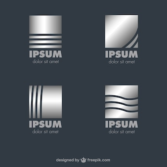 Metallic vector logos template