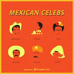 Mexican celebrities vector