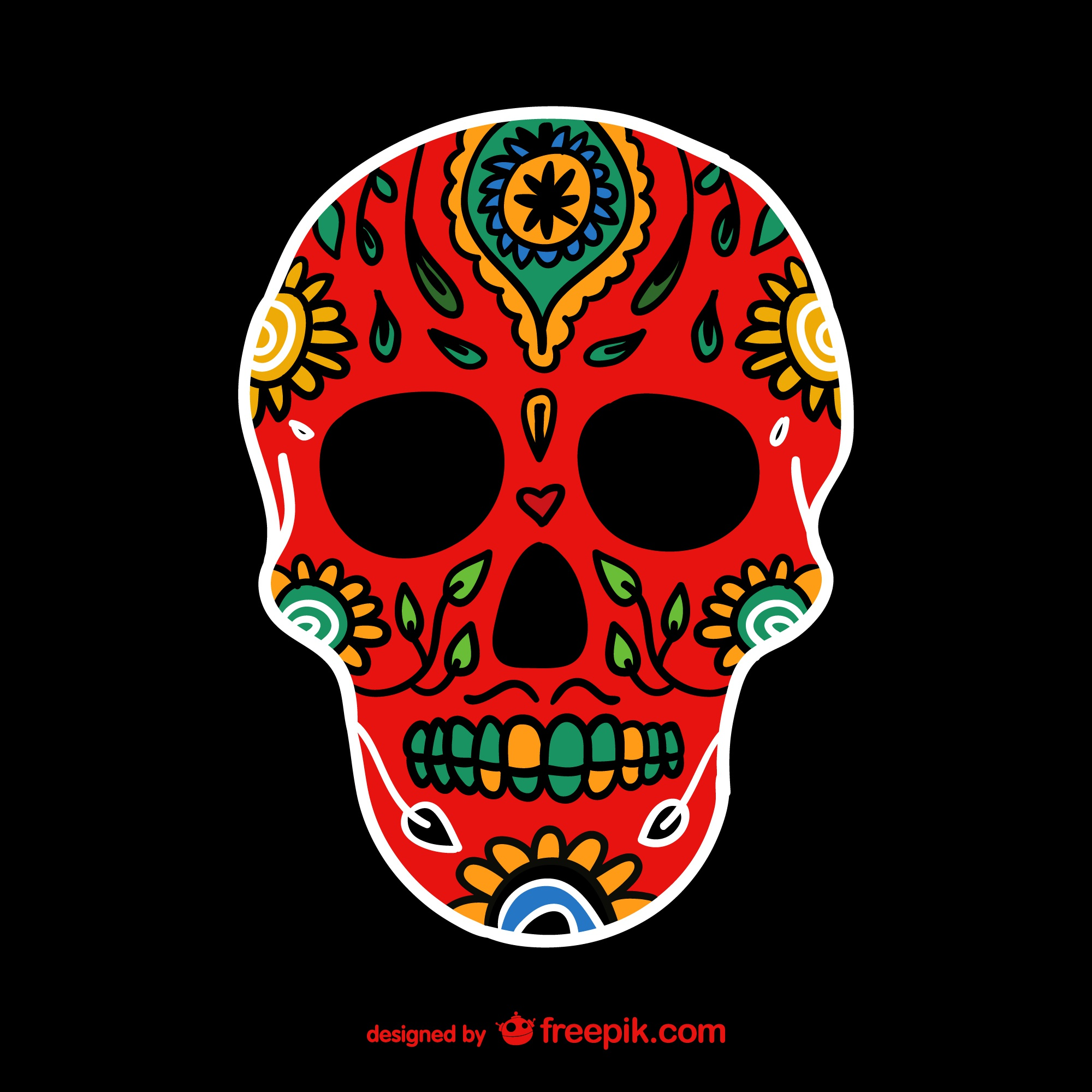 Mexican colorful skull