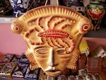 Mexican craft mask, old
