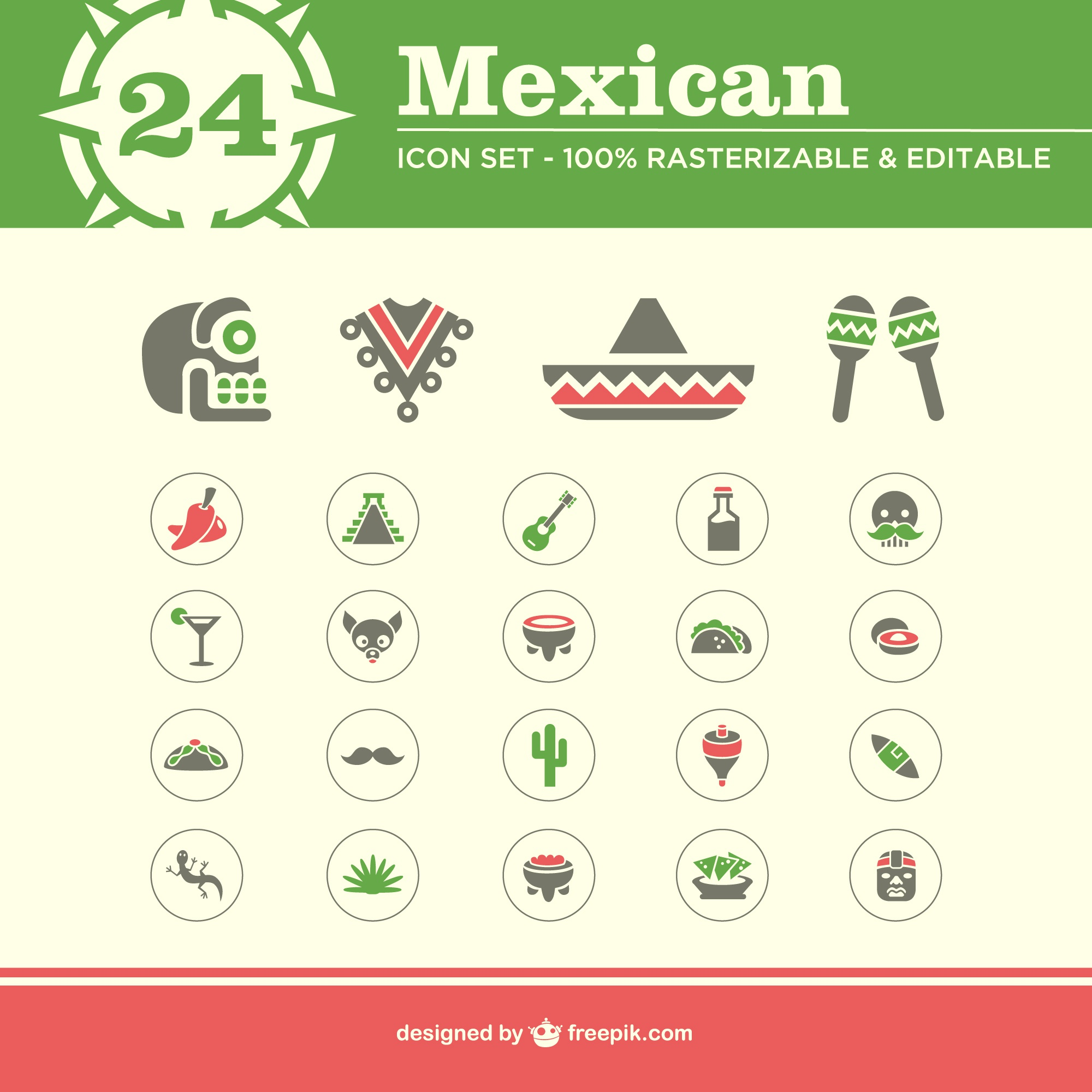 Mexican icons free pack