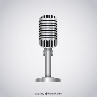 Microphone 3D illustration