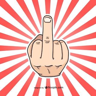 Middle finger hand sign