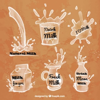 Milk splashes