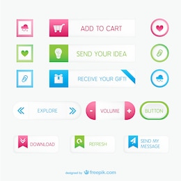 Minimal buttons pack