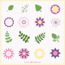MInimal flowers and leaves