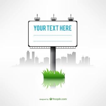 MInimalist billboard template