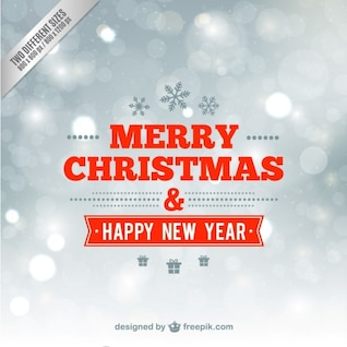 Minimalist merry Christmas and happy new year card