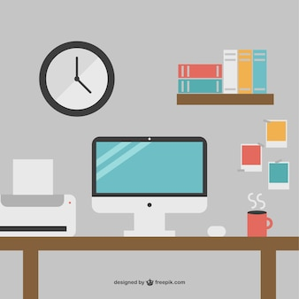 Minimalist office desk free graphics