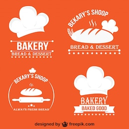 Minimalist Retro Bakery Logos and Badges Set