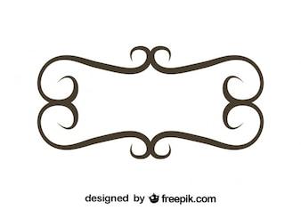 Minimalist Retro Floral Frame Design
