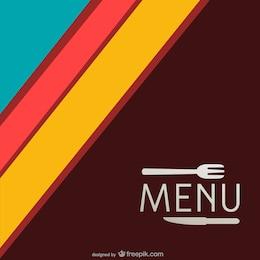 Minimalist retro vector menu template