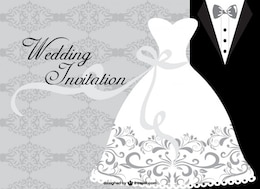 Minimalist wedding card