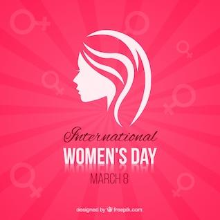 Minimalist Women's Day card