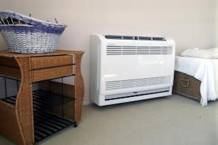 mitsubishi floor console heat pump