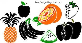 Mixed fruits free vector