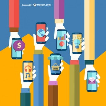 Mobile app flat illustraion