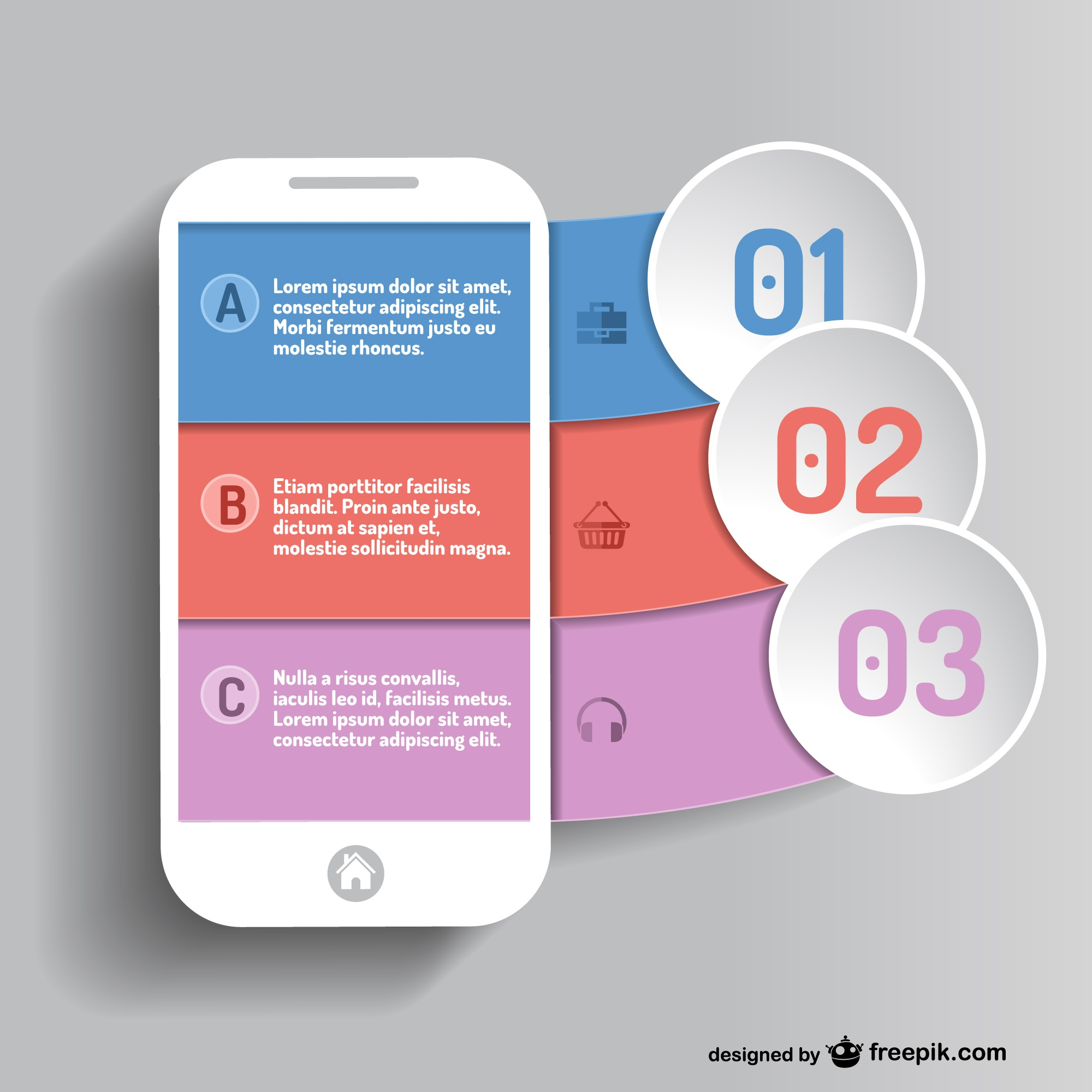 Mobile app infographic vector