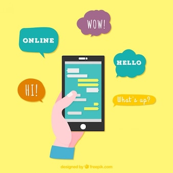 Mobile phone chat