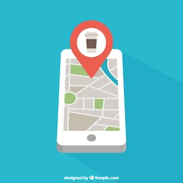 Mobile phone with map