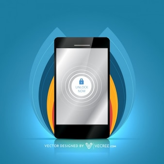 Mobile screen locked vector graphic