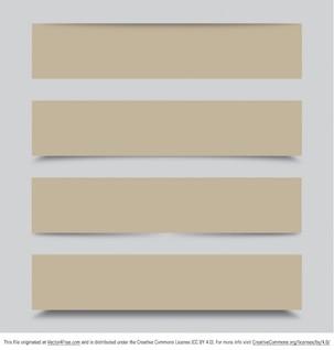 Modern beige banners for web design