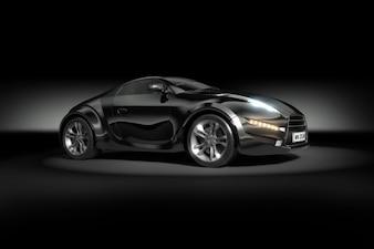 Modern black sport car