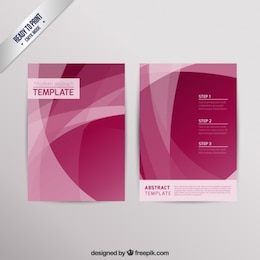 Modern brochure in abstract style