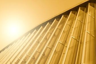 Modern construction with sunshine