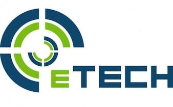 modern Etech company logo vector