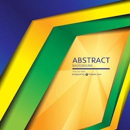 Modern geometric Brazil concept background