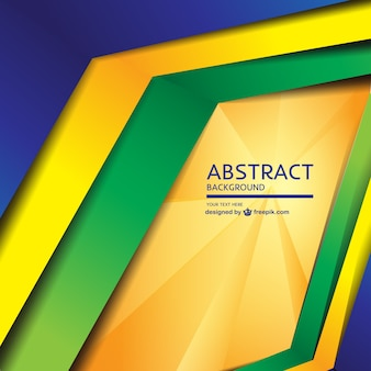 Modern geometric Brazil concept background