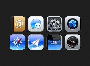 Modern iOS icon set PSD