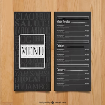 Modern menu template