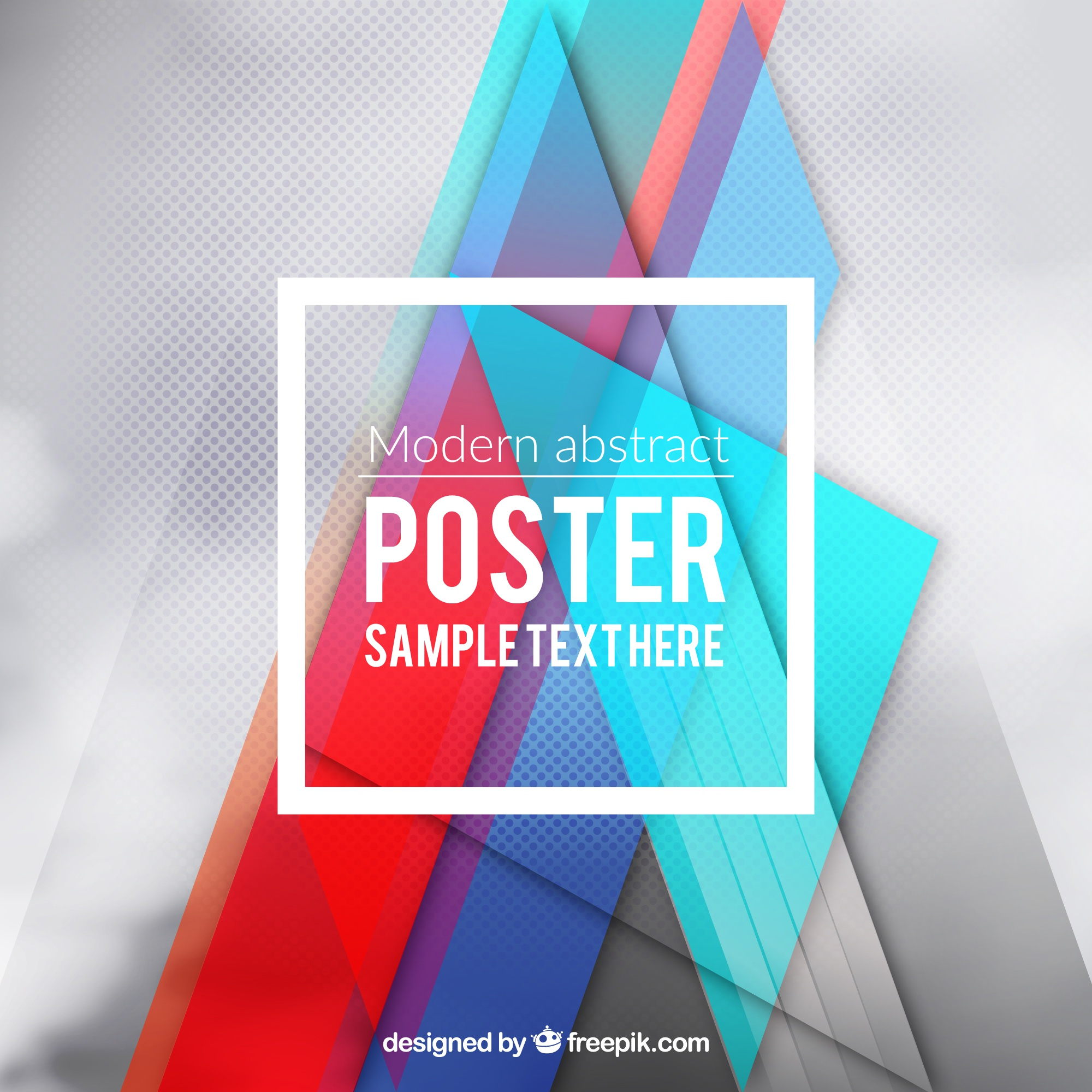 Modern poster in abstract style