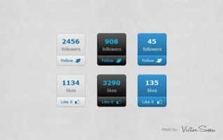 modern social network set vector